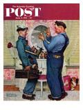 """""""""""Plumbers"""""""" Saturday Evening Post Cover, June 2,1951"""