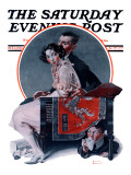 """""God Bless You"""" or """"Sneezing Boy"""" Saturday Evening Post Cover, October 1,1921"