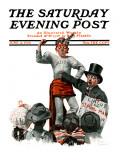 """""Circus Strongman"""" Saturday Evening Post Cover, June 3,1916"