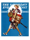 """""At the Auction"""" or """"Found Treasure"""" Saturday Evening Post Cover, July 31,1937"