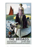 The Broads, Girl Standing on Boat