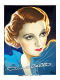 Portrait of Woman in Blue