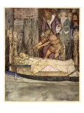 How King Arthur and Queen Guenever Went to See the Barge That Bore the Corpse of Elaine the Fair