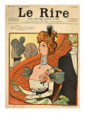 Caricature of a French Marquise, from the Front Cover of 'Le Rire', 12th March 1898