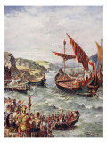 The Departure of the Romans from Britain, Illustration from 'The History of the Nation'