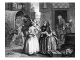 A Harlot's Progress, Plate I, Ensnared by a Procuress