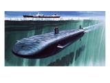 Atomic Submarine under the Ice
