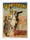 Poster Advertising 'skobeleff' at the Hippodrome, 1895