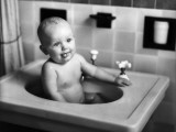Baby Sitting in Sink