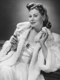 Woman in Evening Wear Posing in Studio