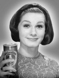 Woman Holding Can of Beer