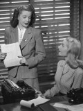 Businesswoman and Her Secretary
