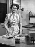 Woman Making Pie