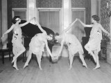 Four Young Women Performing Modern Dance