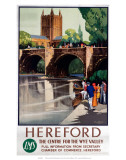 Hereford, The Centre of the Wye Valley, LMS, c.1923-1947