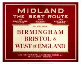 Midland, The Best Route, Midland Railway, c.1920s