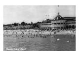 Santa Cruz, California - Crowds on the Beach Photograph