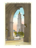 View of Woolworth Building through Municipal Arch, New York City