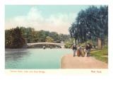 Central Park, Lake and Bow Bridge, New York