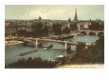 Bridge over the Seine with Pont des Arts