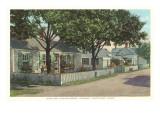 Siasconset, Street in Nantucket, Massachusetts