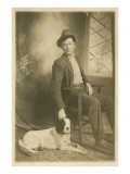 Man with his Serious Dog
