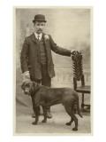 Man with his Black Labrador