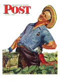 """""""""""Victory Garden,"""""""" Saturday Evening Post Cover, August 7, 1943"""