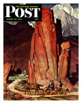 """""""""""Sailor Comes Home to Mountain Ranch,"""""""" Saturday Evening Post Cover, August 25, 1945"""