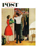 """""Christmas in Hiding,"""" Saturday Evening Post Cover, December 10, 1960"