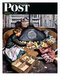 """""Chicks in Incubator,"""" Saturday Evening Post Cover, March 5, 1949"