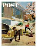 """""Rock Garden,"""" Saturday Evening Post Cover, April 22, 1961"