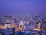 Brazil, Sao Paulo, Sao Paulo, View of City Center from Italia Building - Edificio Italia