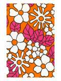 Pink and Orange Floral Pattern