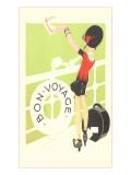 Bon Voyage, Flapper Waving from Railing