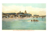 Beach and Pavilion, Narragansett Pier, Rhode Island