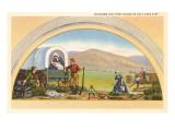 Building the First House in Salt Lake City, Utah, Illustration