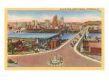 Skyline, Bridges, Pittsburgh, Pennsylvania