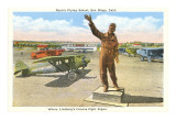 Lindbergh Statue, Ryan's Flight School, San Diego, California
