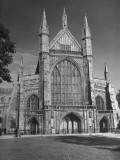 The Late Perpendicular West Front of Winchester Cathedral, Built by William of Wykeham