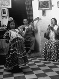 8-Year Old Gypsy Dancer with Her Parents