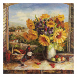 Sunflowers With Fruit And Wine II