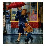 """""Leaving Grocery in Rain"""", April 24, 1954"