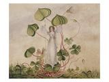 A Fairy Standing Among Clover