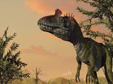 Artist's Concept of Cryolophosaurus