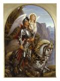 Sir Galahad and His Angel