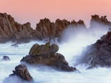 Sea stacks and spume at the Pointe de Creac'h