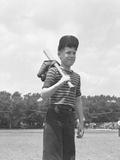 Boy Holding a Baseball Bat