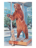 Small Girl with Large Bear, Retro