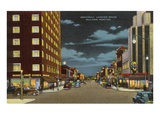 Night, Broadway, Billings, Montana